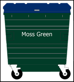 Drop Front 1100 820 Recycling Bins Dje Recycling Systems